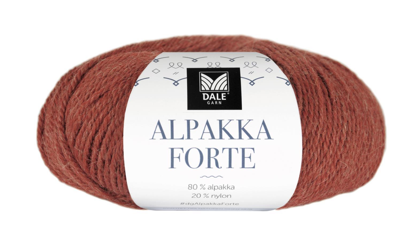 Alpakka Forte - Varm terracotta melert