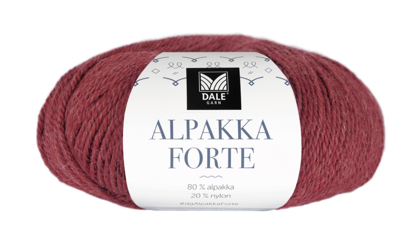 Alpakka Forte - Chilirød melert