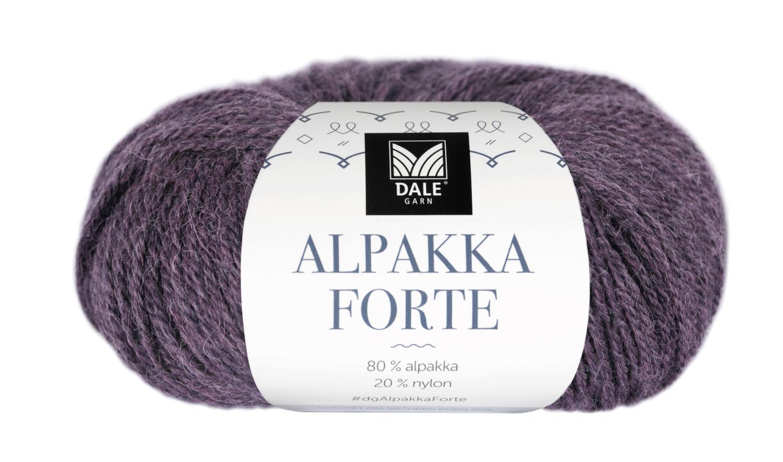 Alpakka Forte - Rødlilla melert