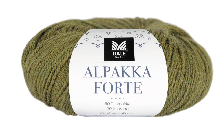 Alpakka Forte - Vårgrønn melert