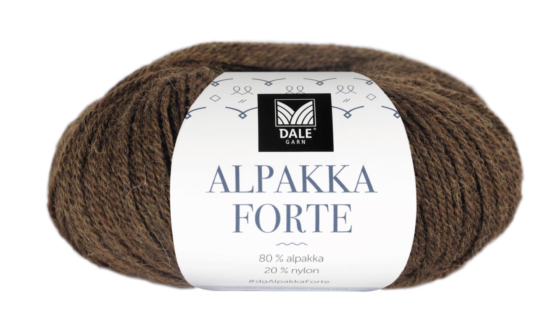 Alpakka Forte - Varm brun melert