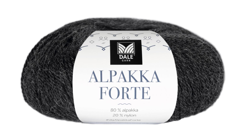 Alpakka Forte - Gråsvart melert