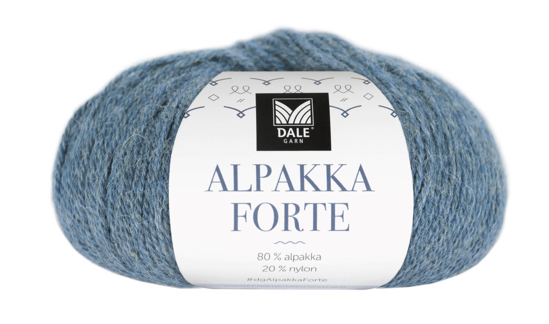 Alpakka Forte - Lys denim melert
