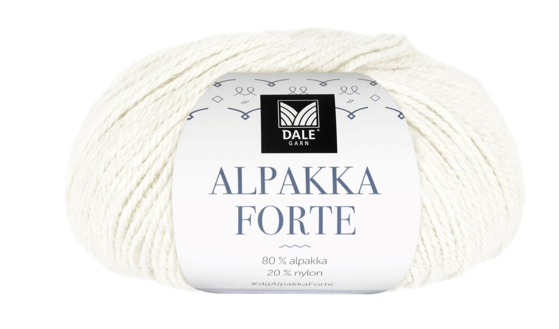 Alpakka Forte - Hvit