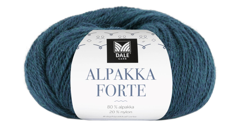 Alpakka Forte - Petrol melert