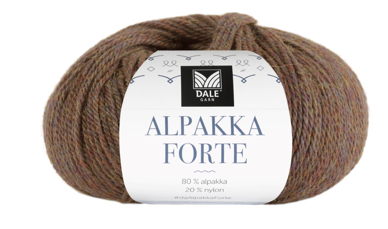 Alpakka Forte - Brun melert