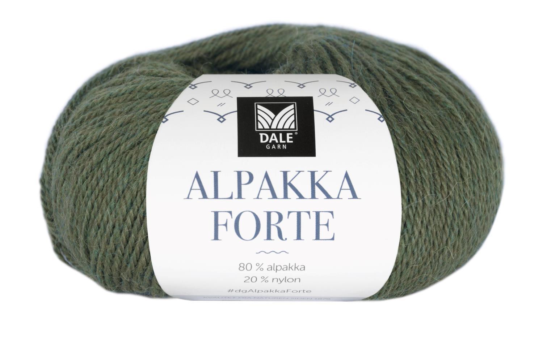 Alpakka Forte - Skoggrønn melert