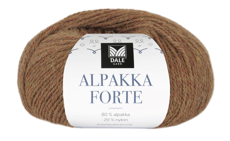 Alpakka Forte - Gul/Rød melert