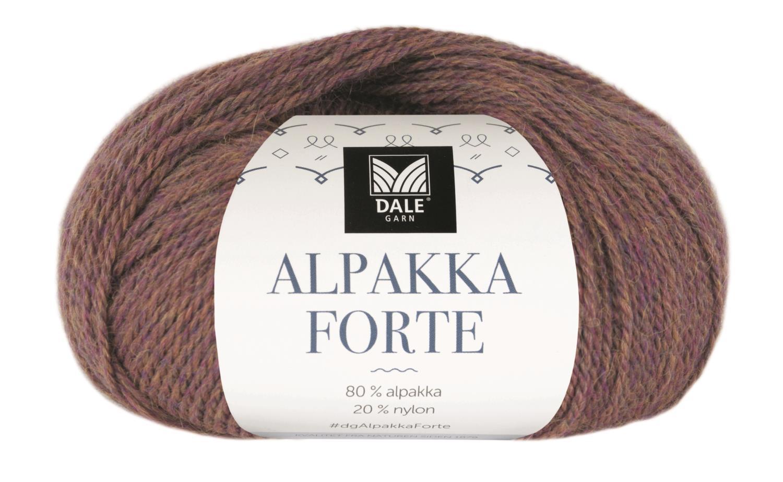 Alpakka Forte - Lilla/Gul melert