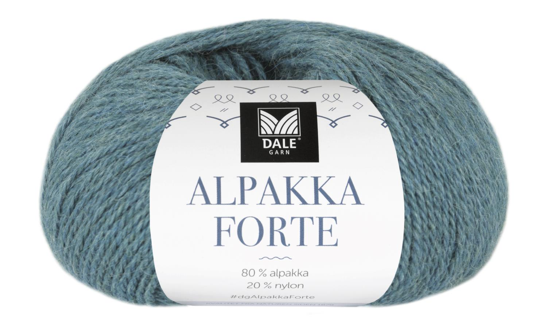 Alpakka Forte - Denim/Blå melert
