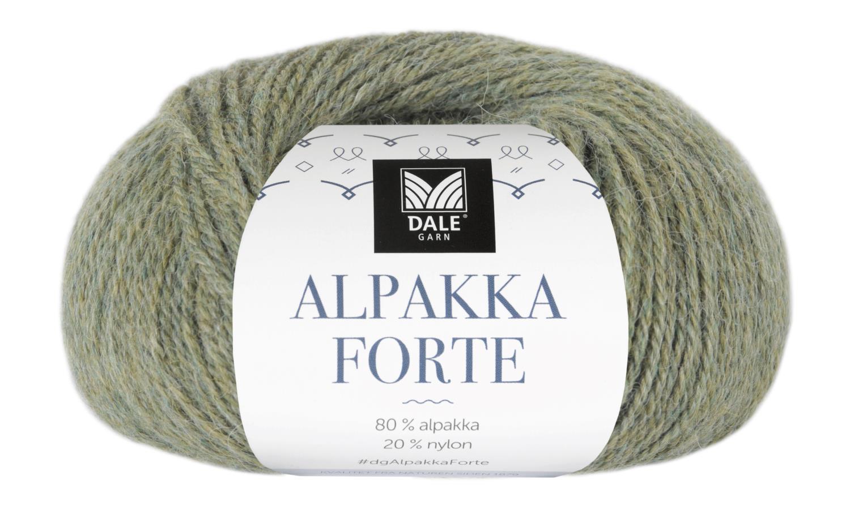 Alpakka Forte - Lys grønn melert