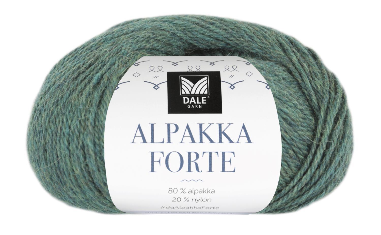 Alpakka Forte - Grønn/Blå melert
