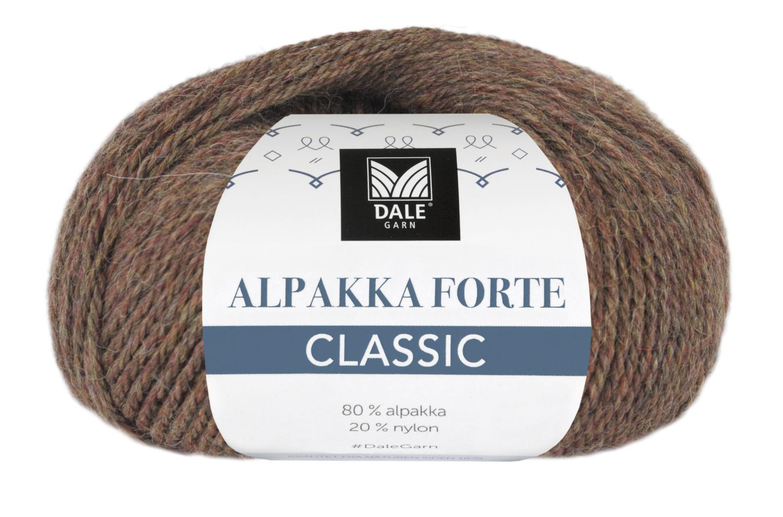 Alpakka Forte Classic - Brun melert