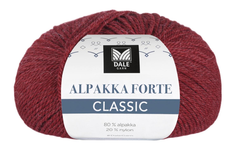 Alpakka Forte Classic - Dyp rød melert