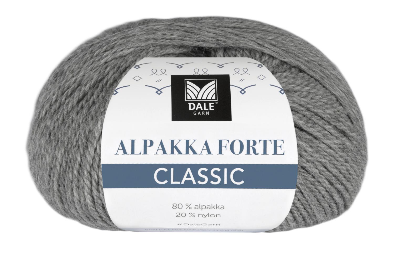Alpakka Forte Classic - Grå melert