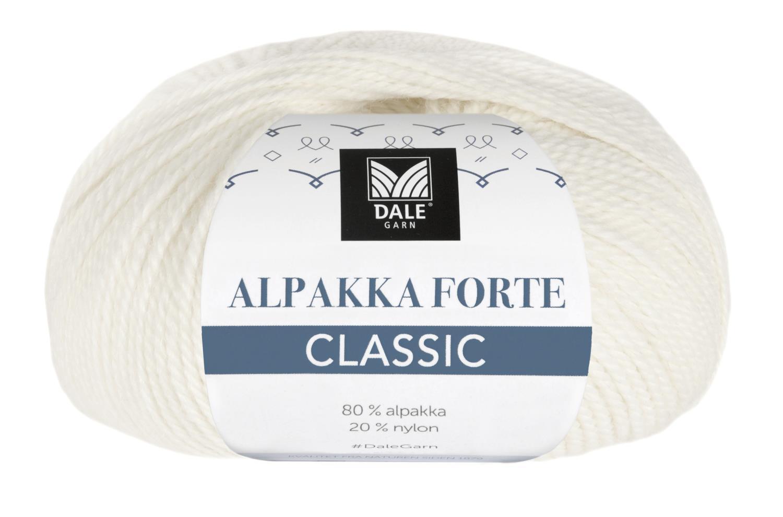 Alpakka Forte Classic - Hvit