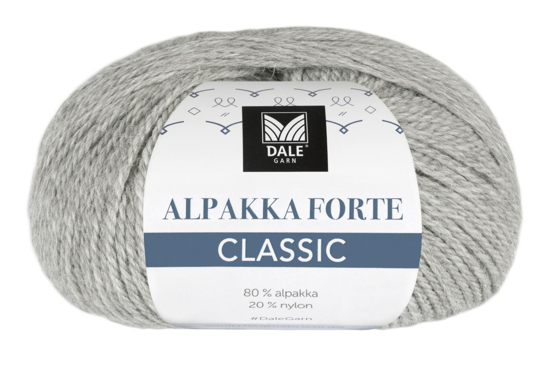 Alpakka Forte Classic - Lys grå melert