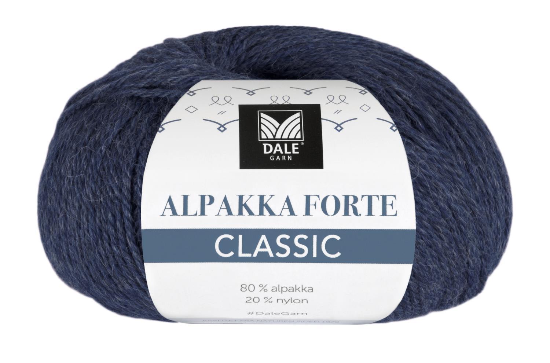 Alpakka Forte Classic - Marine melert