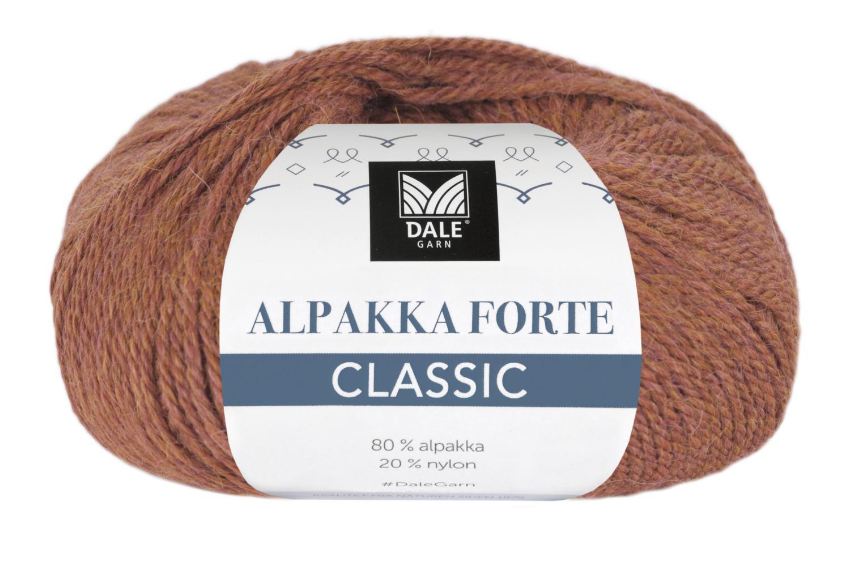 Alpakka Forte Classic - Mørk terrakotta