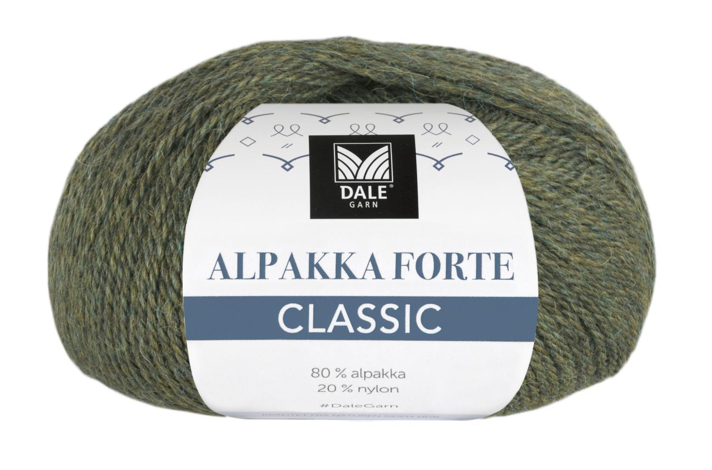 Alpakka Forte Classic - Oliven melert