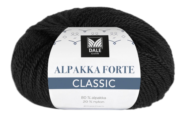 Alpakka Forte Classic - Svart