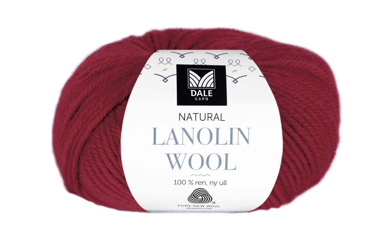 Lanolin Wool - Rubinrød