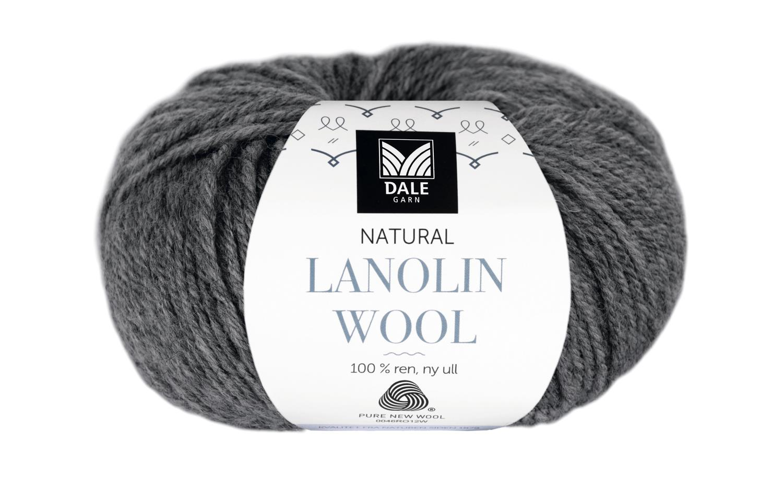 Lanolin Wool - Mørk grå melert