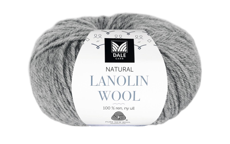Lanolin Wool - Grå melert