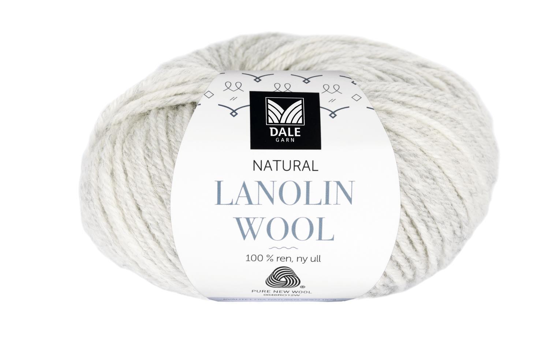 Lanolin Wool - Lys grå melert