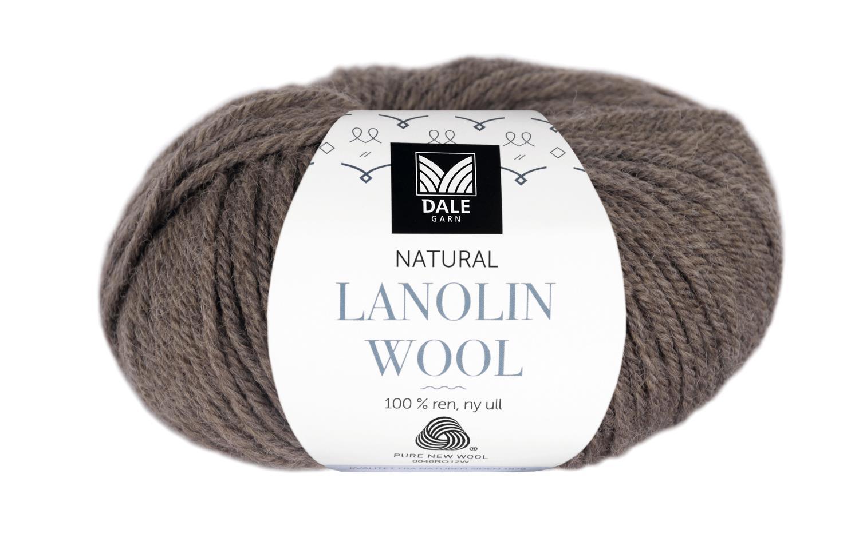 Lanolin Wool - Brun melert