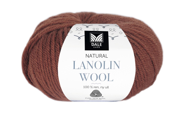 Lanolin Wool - Mørk rust