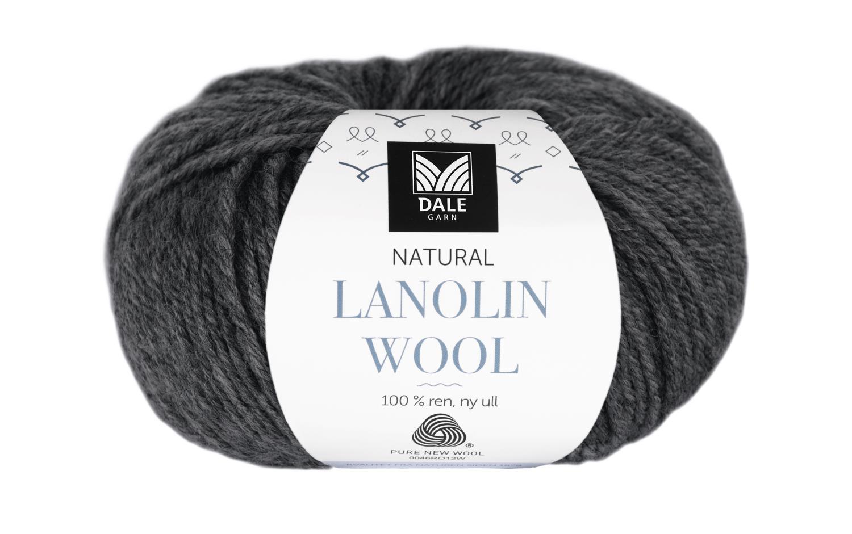 Lanolin Wool - Koks melert