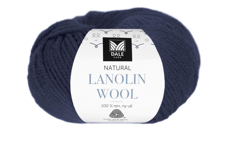 Lanolin Wool - Mørk indigoblå