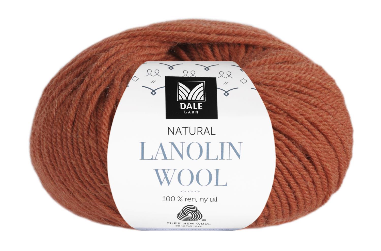 Lanolin Wool - Oransje melert