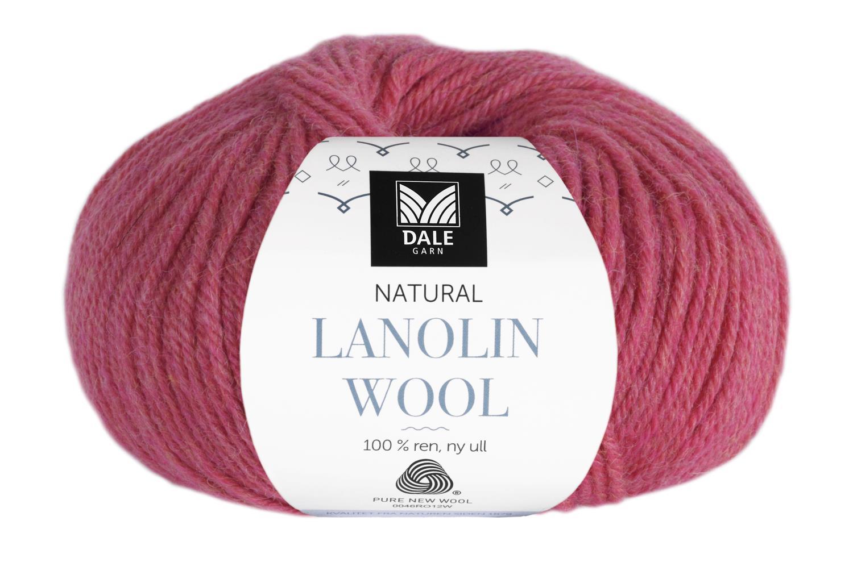 Lanolin Wool - Bringebær melert