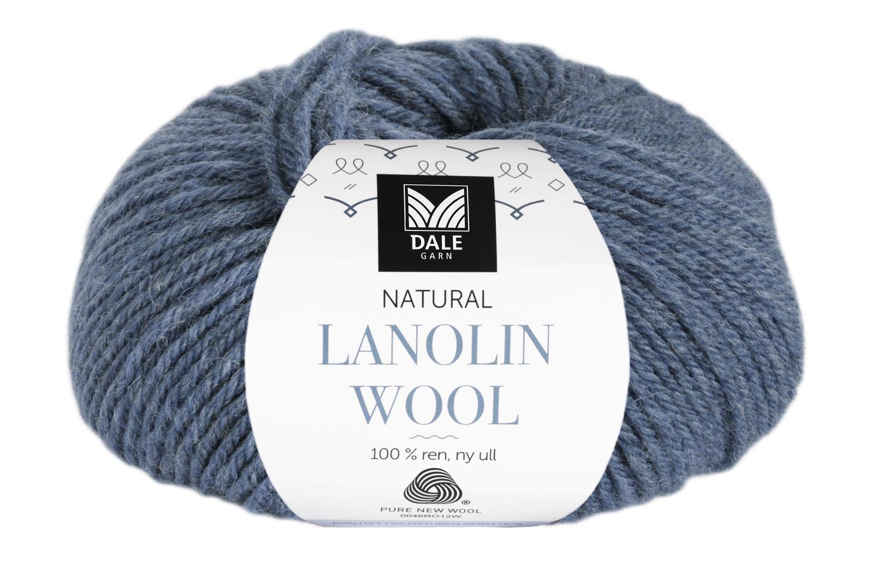 Lanolin Wool - Denimblå melert