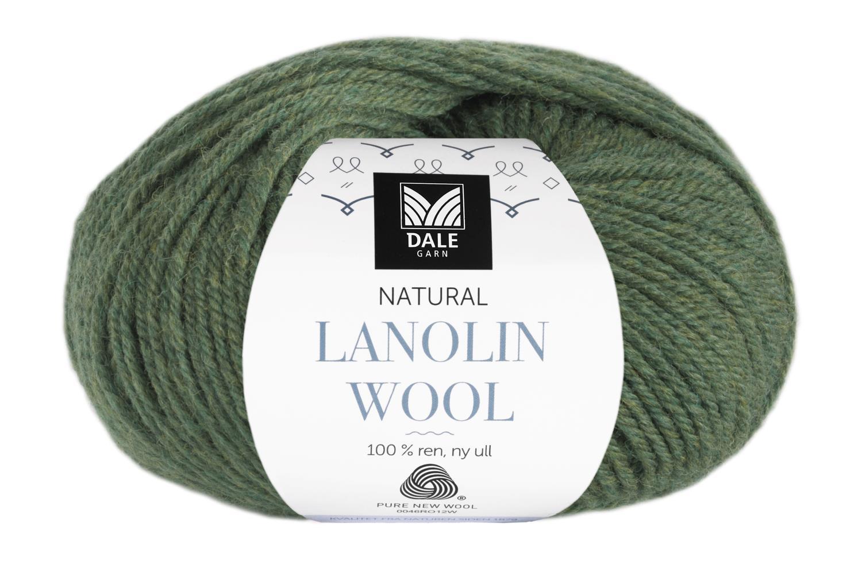 Lanolin Wool - Olivengrønn melert