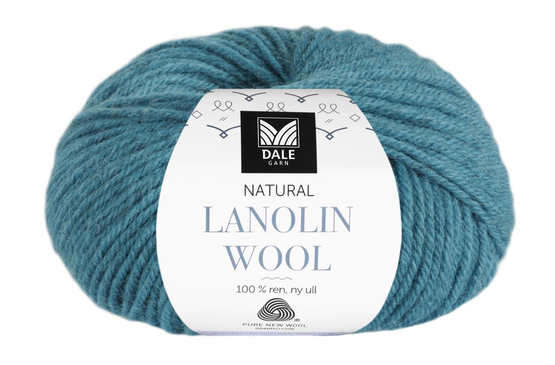 Lanolin Wool - Lys petrol melert