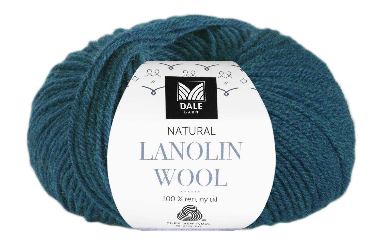 Lanolin Wool - Mørk petrol melert
