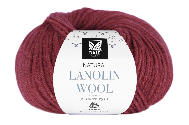 Lanolin Wool - Rubinrød melert