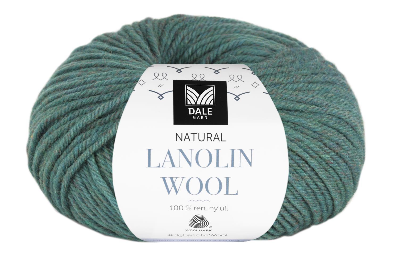 Lanolin Wool - Blågrønn melert
