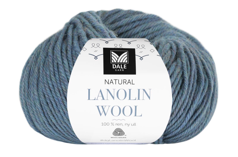 Lanolin Wool - Lys denim melert