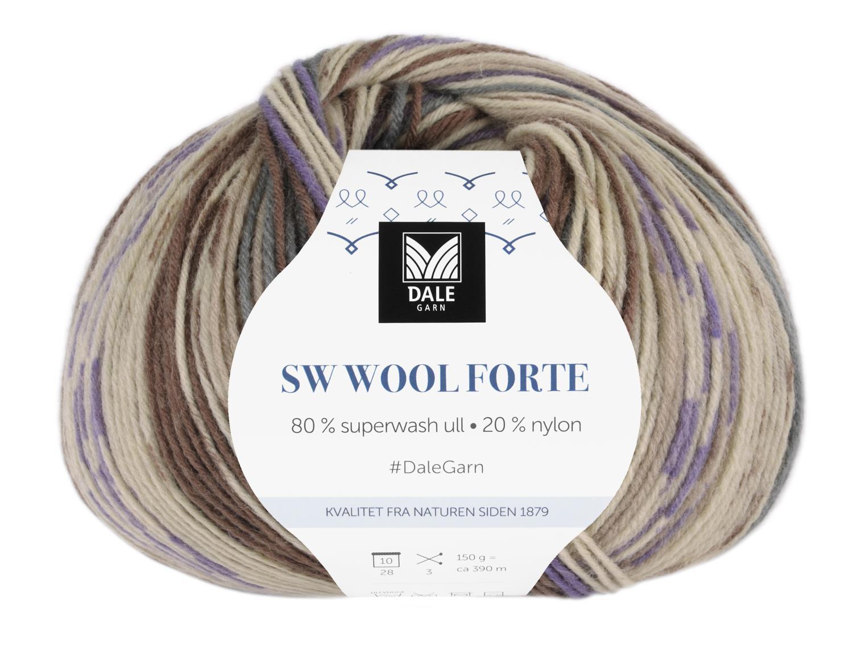 SW Wool Forte Brun/Lilla 150 gr