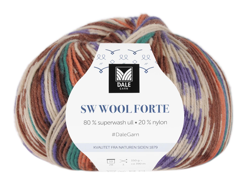 SW Wool Forte Flaskegrønn/Brun 150 gr