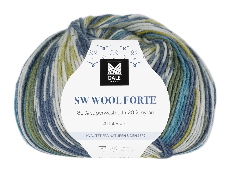SW Wool Forte Marine/Lime 150 gr