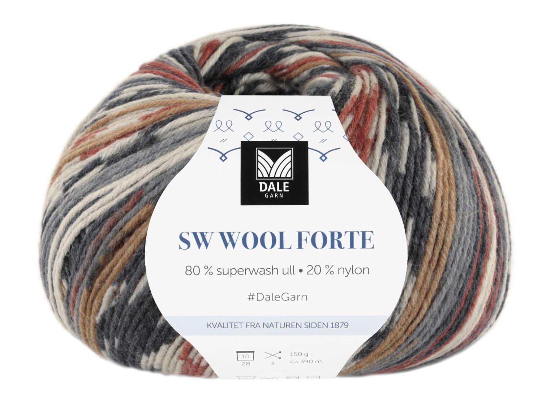 SW Wool Forte Marine/Rød 150 gr