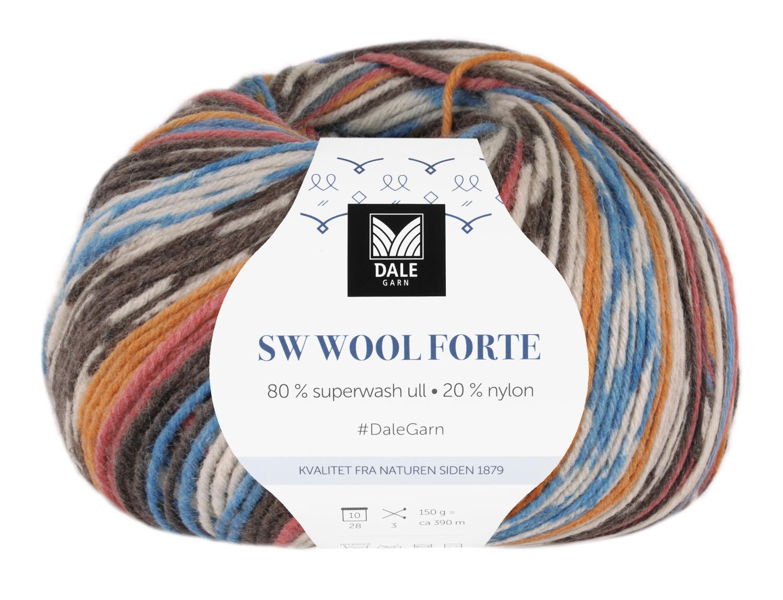 SW Wool Forte Rust/Blå 150gr