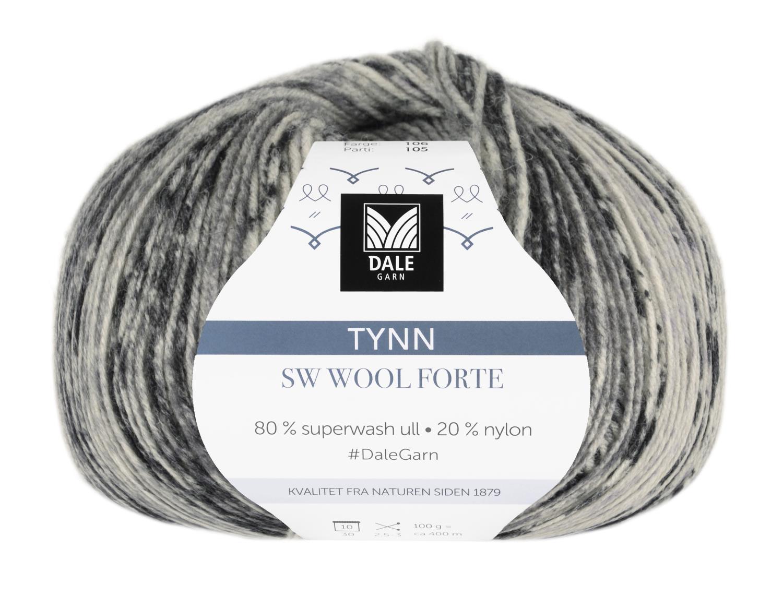 Tynn SW Wool Forte Brun/Beige 100 gr