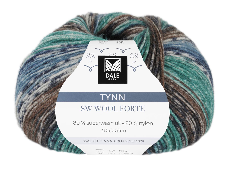 Tynn SW Wool Forte Brun/Turkis 100 gr