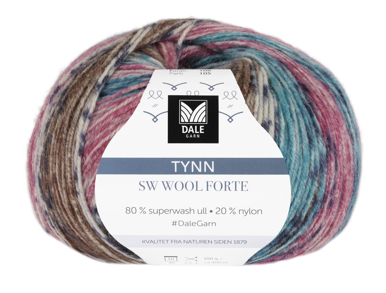 Tynn SW Wool Forte Denim/Pink 100 gr